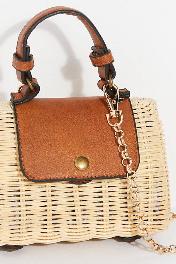 Slide View 3: Mini Wicker Crossbody Bag