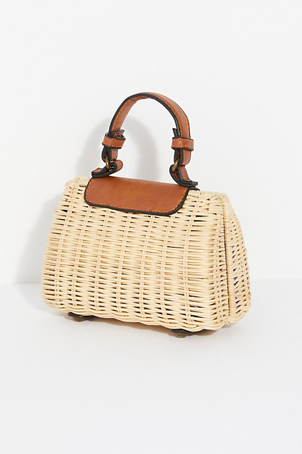 Slide View 4: Mini Wicker Crossbody Bag