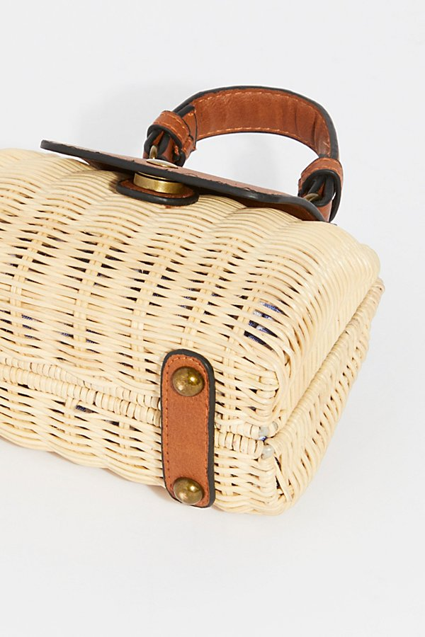 Slide View 5: Mini Wicker Crossbody Bag