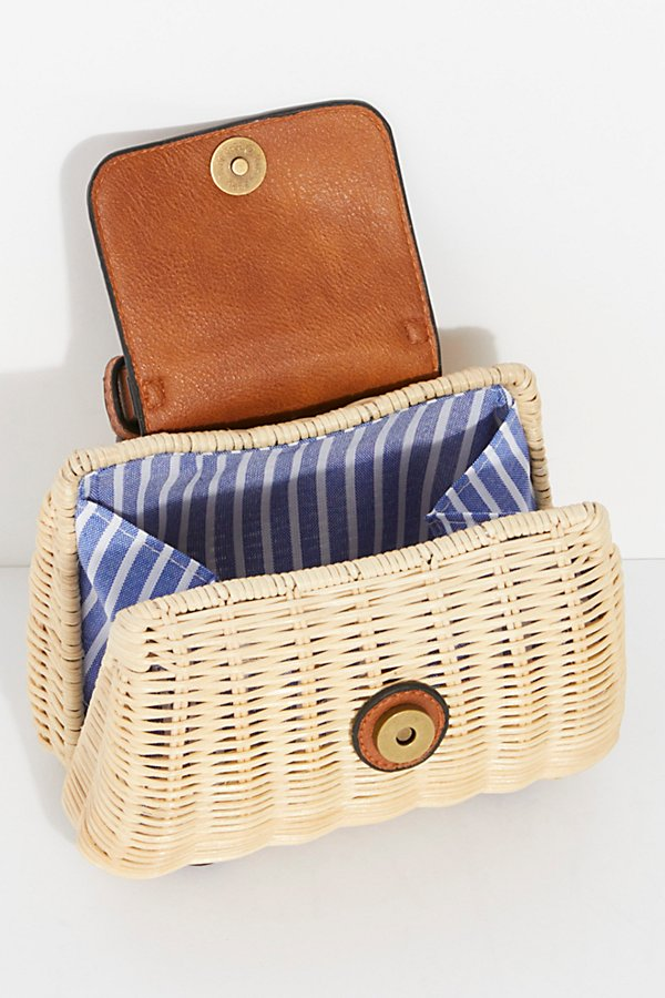 Slide View 6: Mini Wicker Crossbody Bag