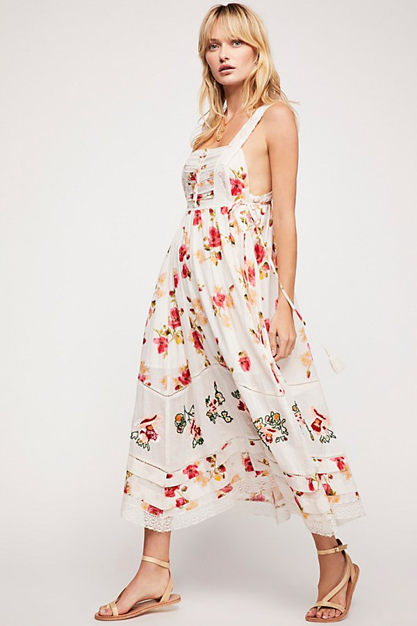 Slide View 1: Floral Bird Maxi Dress