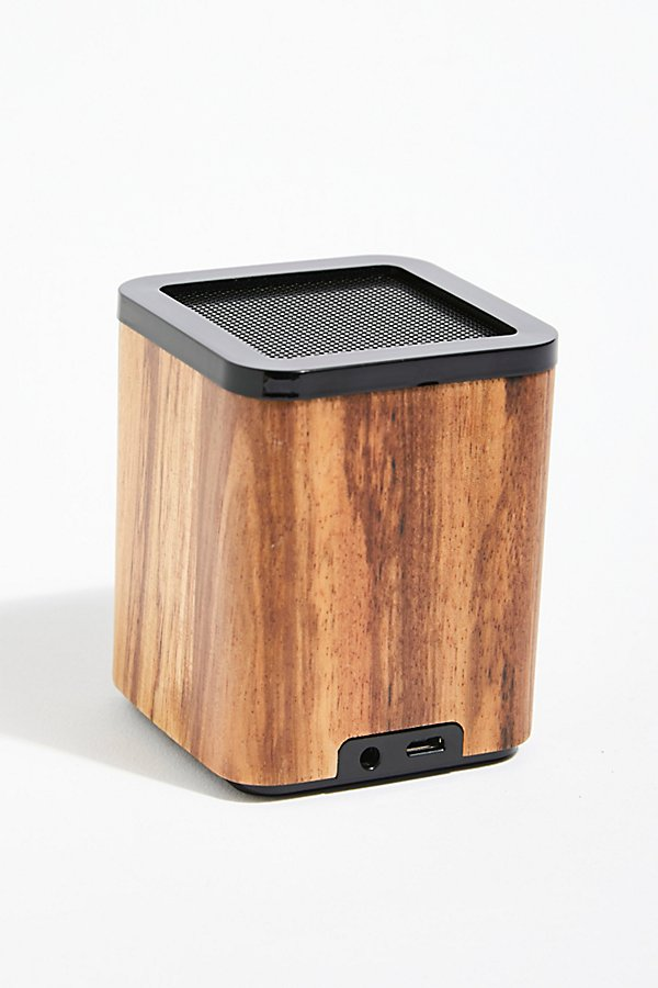 Slide View 3: Satellite Bluetooth Wood Speaker