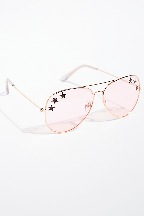 Slide View 2: Shine Bright Aviator Sunglasses