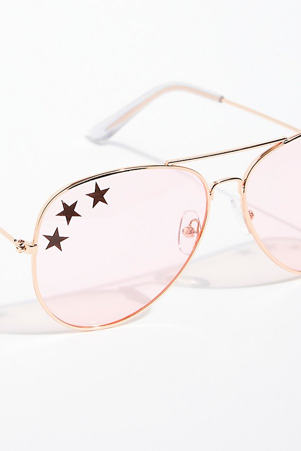 Slide View 3: Shine Bright Aviator Sunglasses