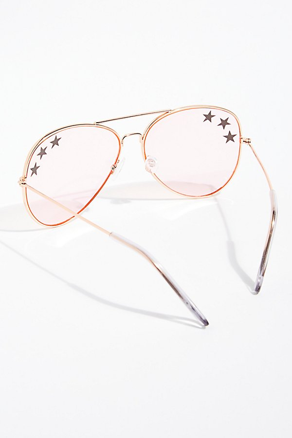 Slide View 4: Shine Bright Aviator Sunglasses