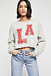 Thumbnail View 1: Cropped Graphic Sweatshirt