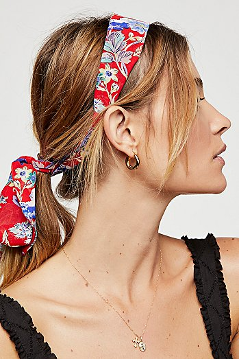 Printed Chiffon Tie Back Headband