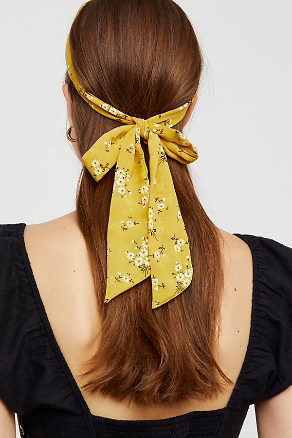 Slide View 2: Printed Chiffon Tie Back Headband