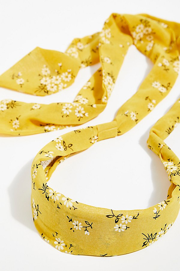 Slide View 5: Printed Chiffon Tie Back Headband