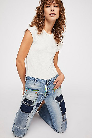 Patch Flare Jeans