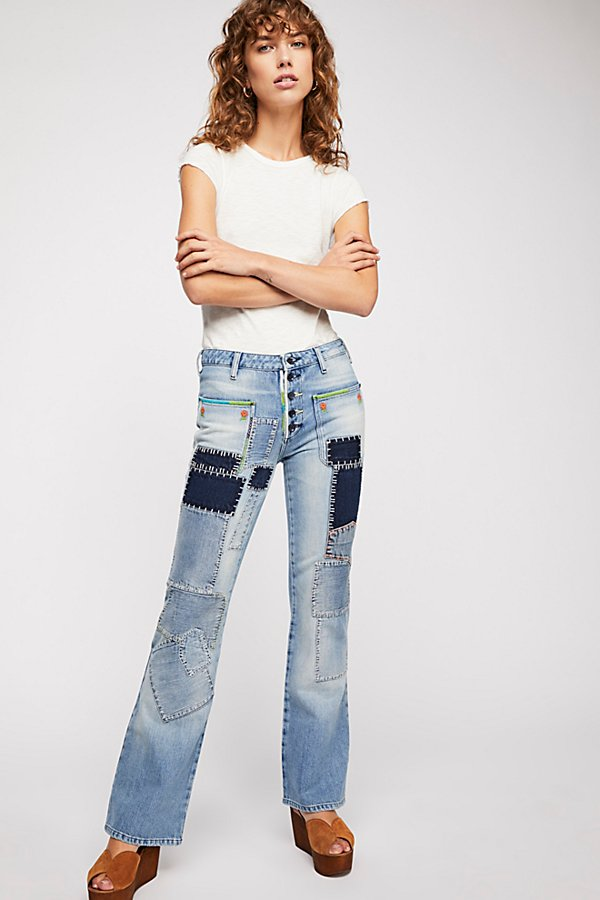 Slide View 2: Patch Flare Jeans