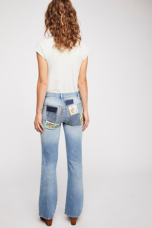 Slide View 3: Patch Flare Jeans