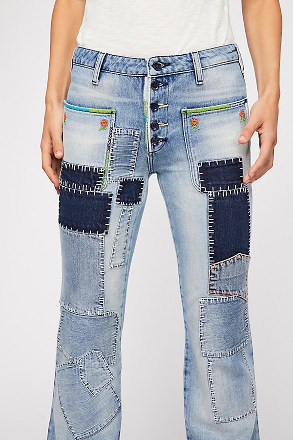 Slide View 4: Patch Flare Jeans