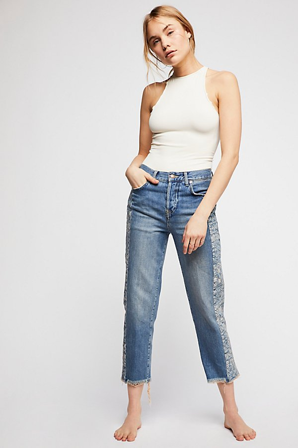Slide View 2: Side Stripe Boyfriend Jeans