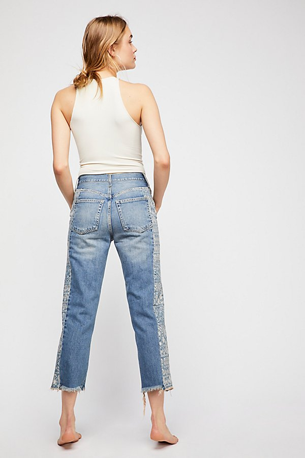Slide View 3: Side Stripe Boyfriend Jeans
