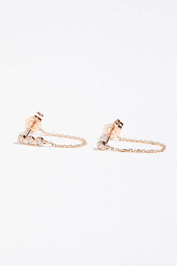 Slide View 1: Teeny Chained Earrings