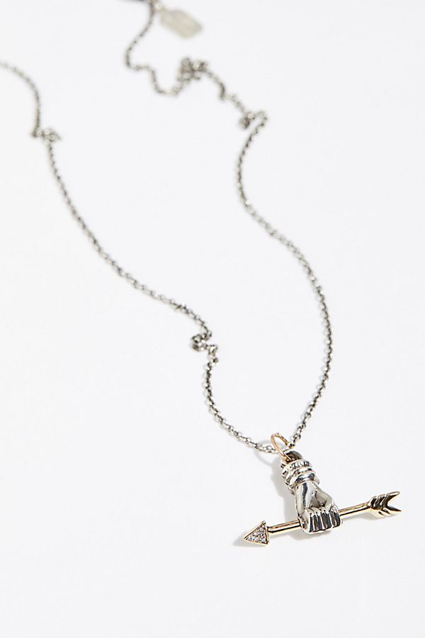 necklace both gold silver crystal arrow rose shop