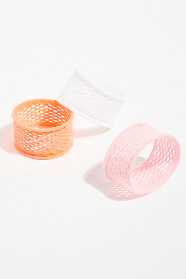 Slide View 2: Fishnet Hair Ties - 3 pack