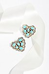 Thumbnail View 1: Turquoise Cluster Heart Stud Earrings