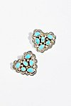 Thumbnail View 2: Turquoise Cluster Heart Stud Earrings