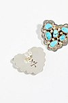 Thumbnail View 3: Turquoise Cluster Heart Stud Earrings