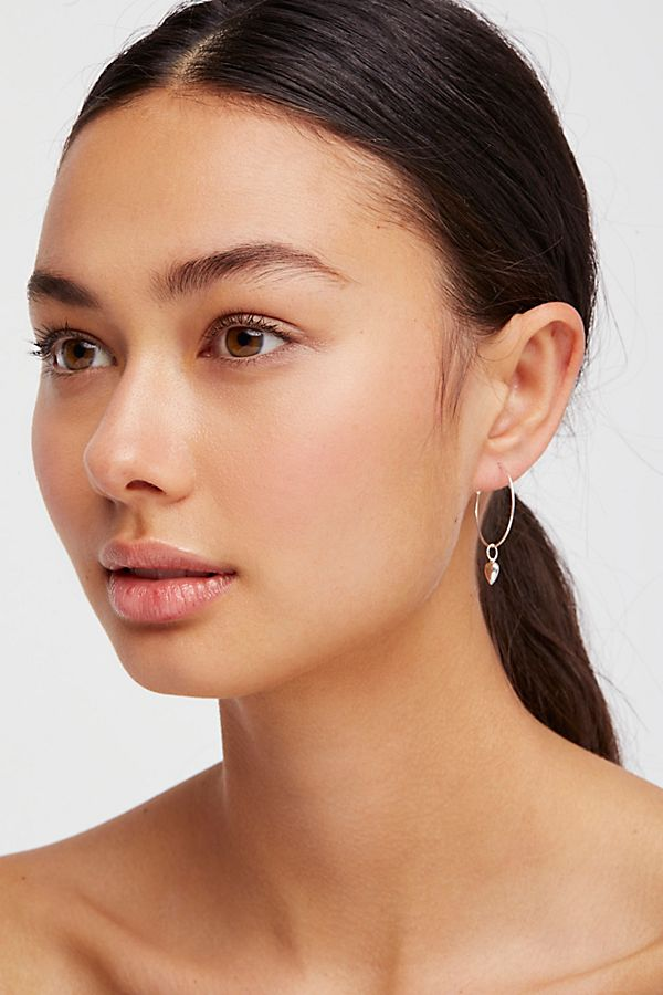 14k Vermeil Love Sleeper Hoop Earrings Free People