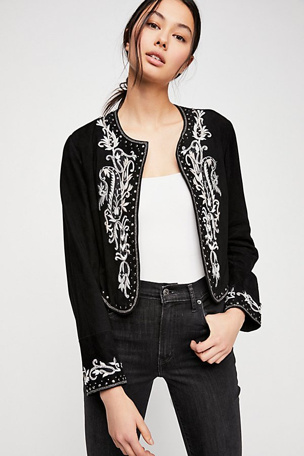 Slide View 3: Shrunken Embellished Blazer