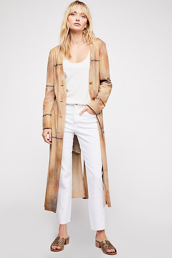 Slide View 1: Long Suede Duster