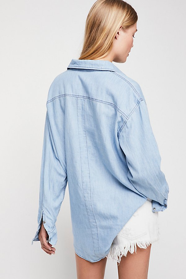 Slide View 2: Love And Hugs Denim Buttondown