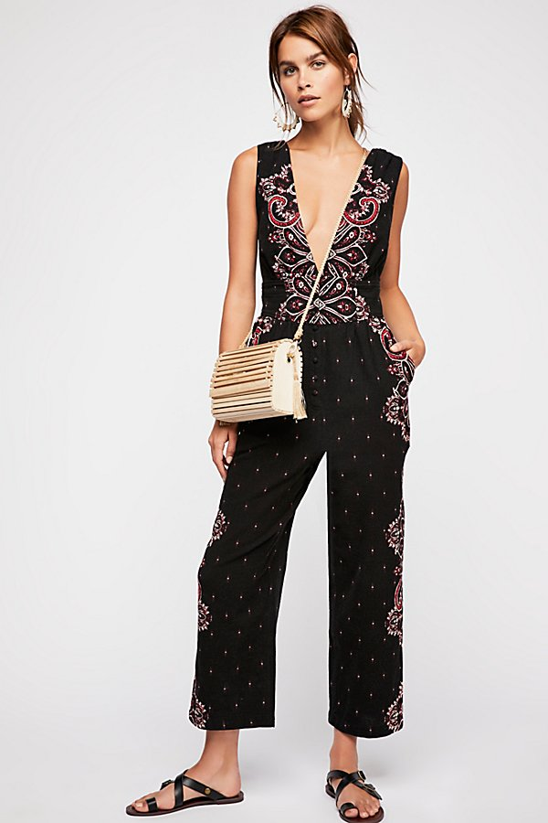Slide View 1: Setting Sun Printed Jumpsuit