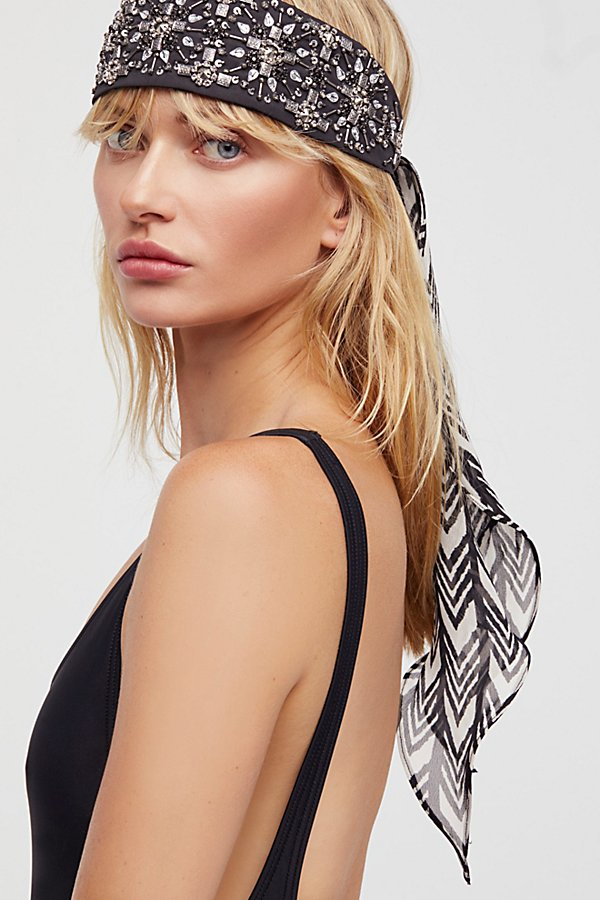 Slide View 1: Embellished Tie Back Turban