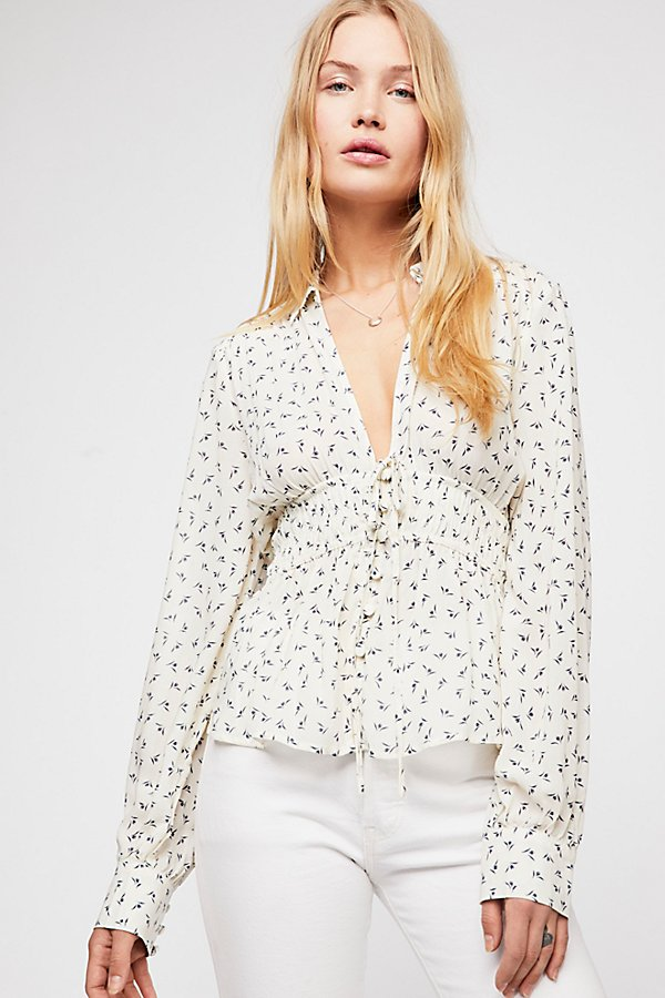 Slide View 1: Colette Printed Buttondown Top
