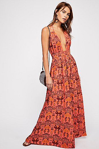 Look Into the Sun Printed Maxi Dress