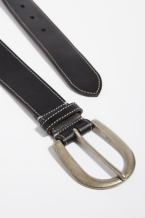 Slide View 3: Saddle Distressed Belt