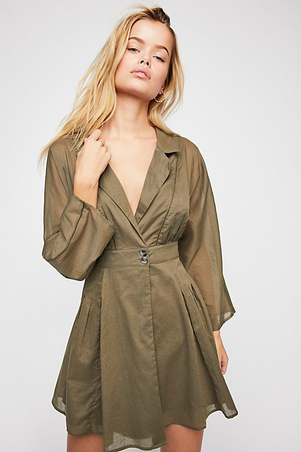 Slide View 1: All Talk Wrap Shirt Dress