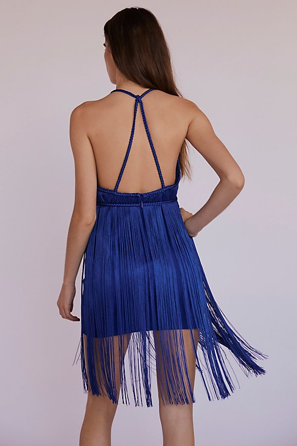 Slide View 3: Fringe Element Bodycon Mini Dress
