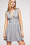 Thumbnail View 1: Roll the Dice Striped Mini Dress