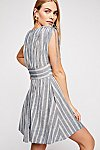 Thumbnail View 2: Roll the Dice Striped Mini Dress