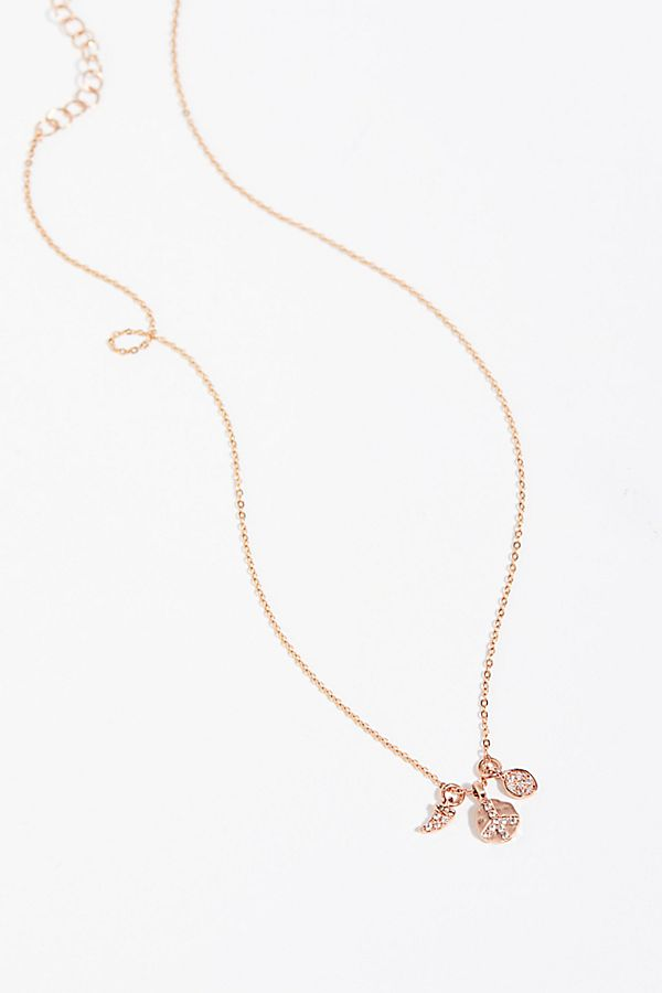 charm necklace en gold hires lucky follie rose plated folli cm pendant long