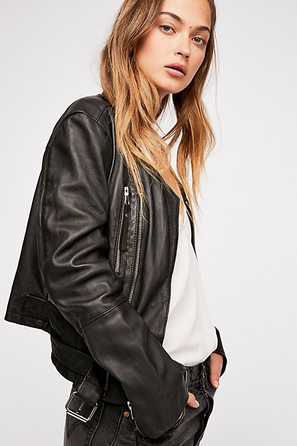 Slide View 2: Victory Leather Moto Jacket