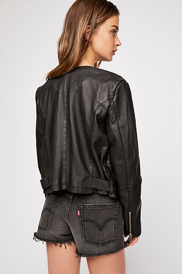 Slide View 3: Victory Leather Moto Jacket