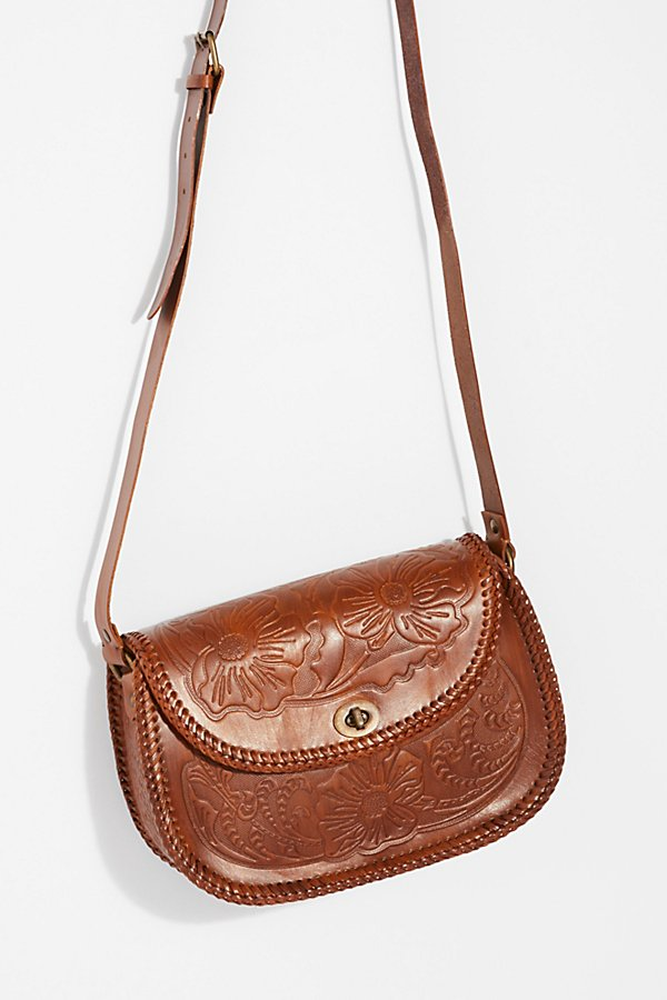 Slide View 2: Tooled Leather Crossbody