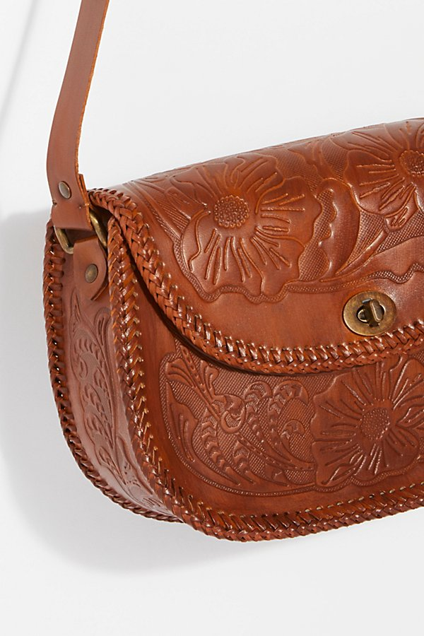 Slide View 3: Tooled Leather Crossbody