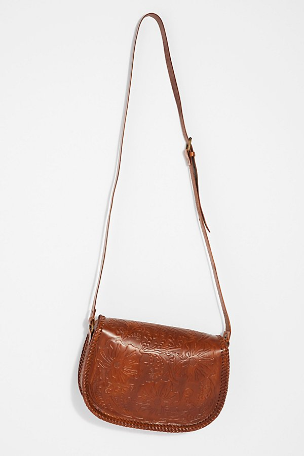 Slide View 4: Tooled Leather Crossbody