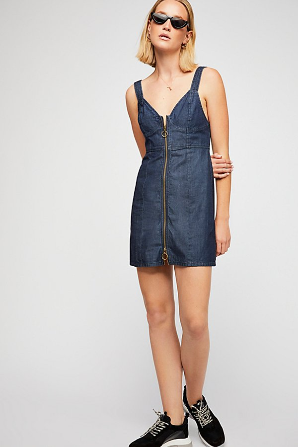 Slide View 6: Marjorie Denim Mini Dress