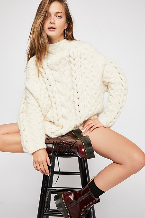 Slide View 1: Braided Cable Pullover Jumper