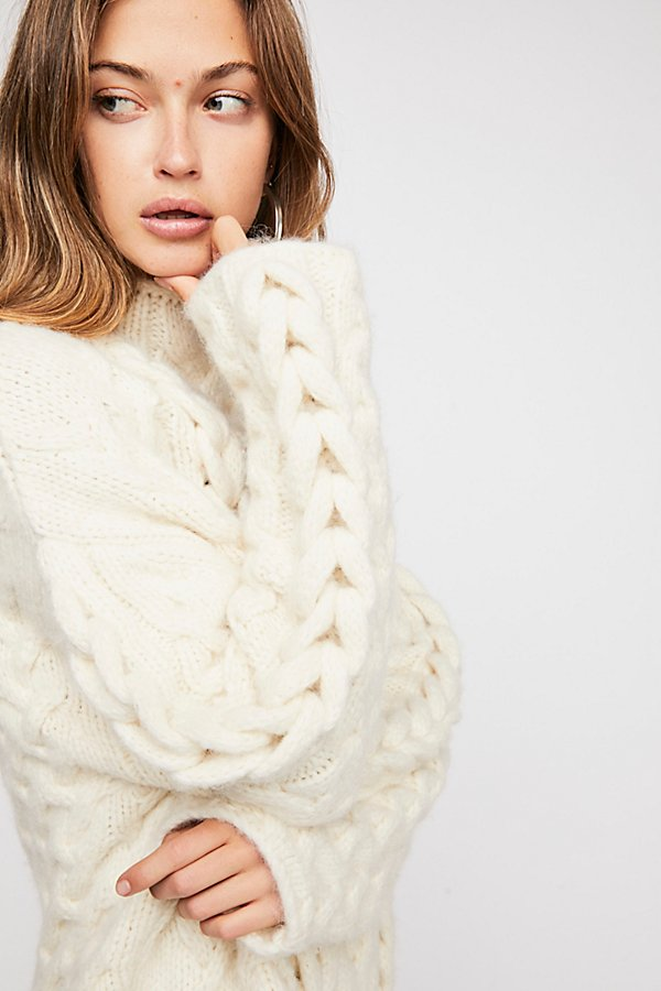 Slide View 4: Braided Cable Pullover Jumper