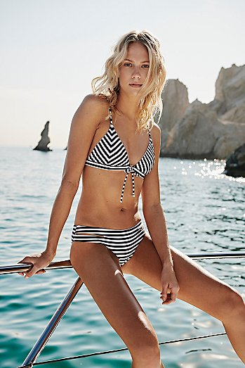 Greenhouse Stripe Bikini Top