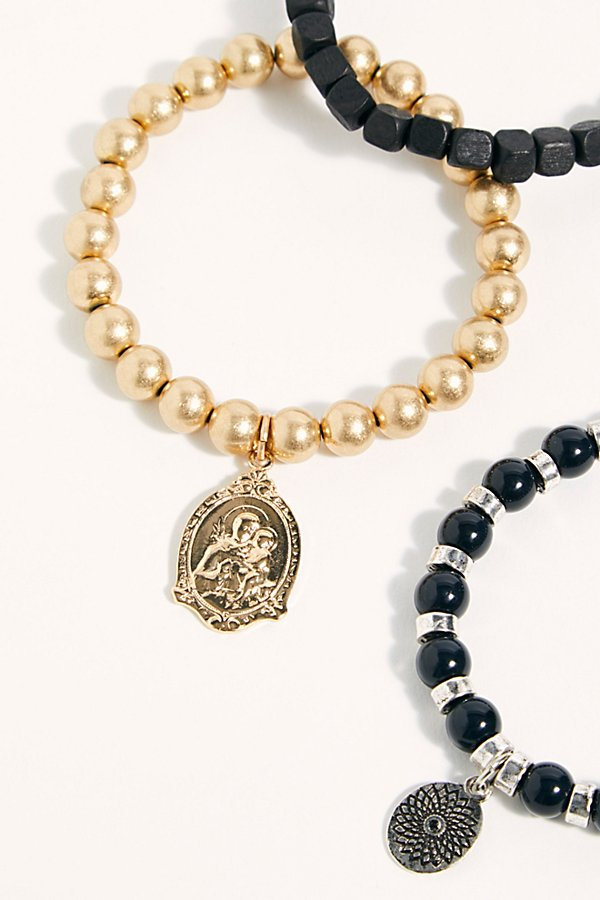 Slide View 4: Mantra Beaded Anklet Set