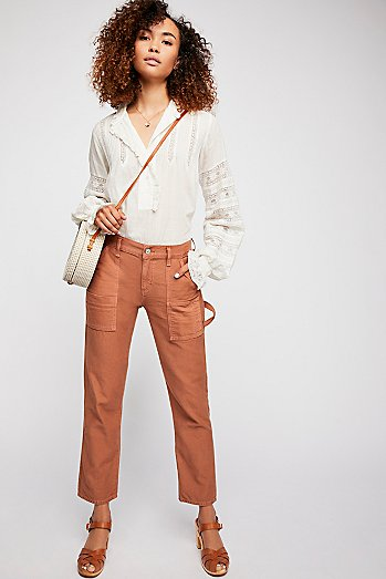 Leah Denim Cargo Trousers